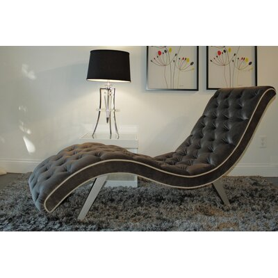 Tobias Chaise Lounge Upholstery: Comsic Gray