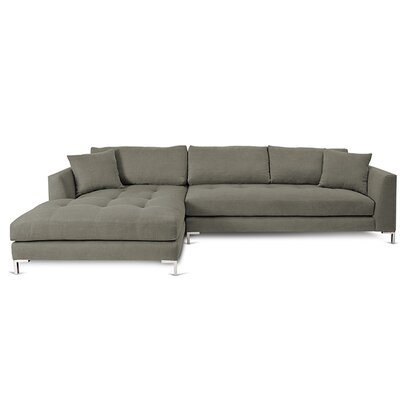 Divina II Sectional Orientation: Right Hand Facing, Upholstery: Mineral