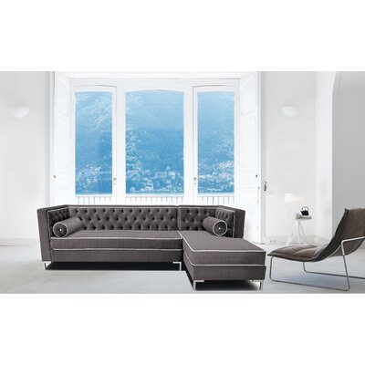 Tobias Sectional Orientation: Right Hand Facing, Upholstery: Cosmic Gray