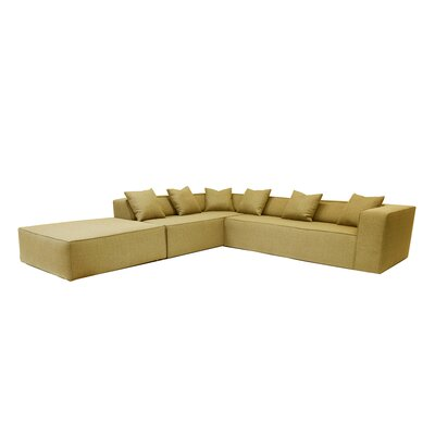 Sectional Orientation: Left Hand Facing, Upholstery: Gold