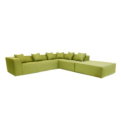 Sectional Orientation: Right Hand Facing, Upholstery: Apple - Green