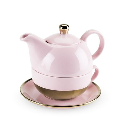 Pinky Up Addison 3 Piece Ceramic Tea Set 5064
