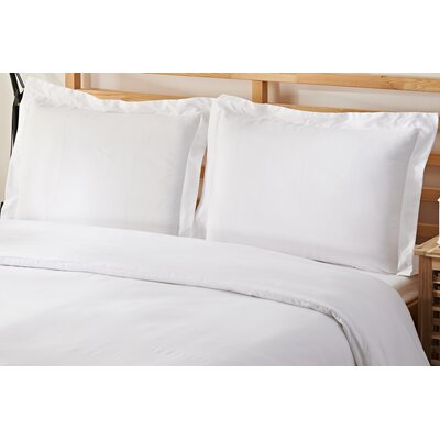 2 Piece Twin Duvet Cover Set Color: White