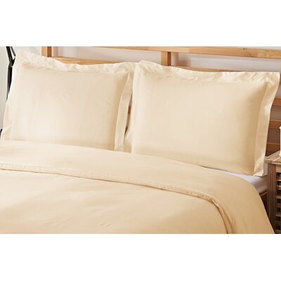 2 Piece Twin Duvet Cover Set Color: Cream
