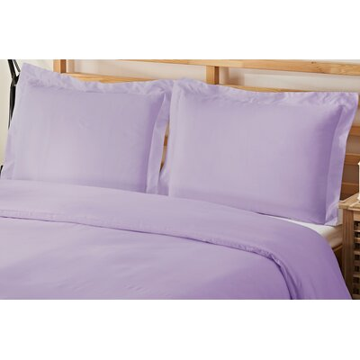 3 Piece Queen Duvet Cover Set Color: Lilac