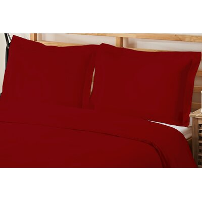 3 Piece Queen Duvet Cover Set Color: Burgundy