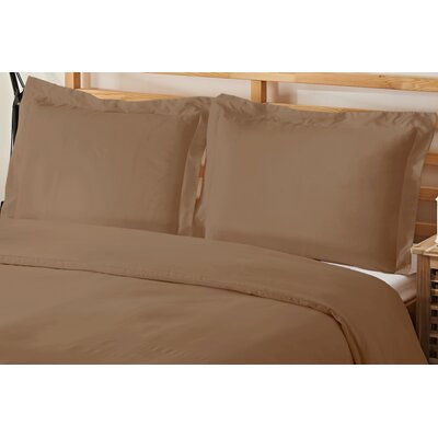 2 Piece Twin Duvet Cover Set Color: Taupe