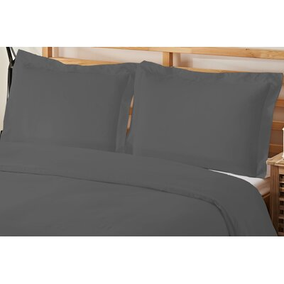2 Piece Twin Duvet Cover Set Color: Gray