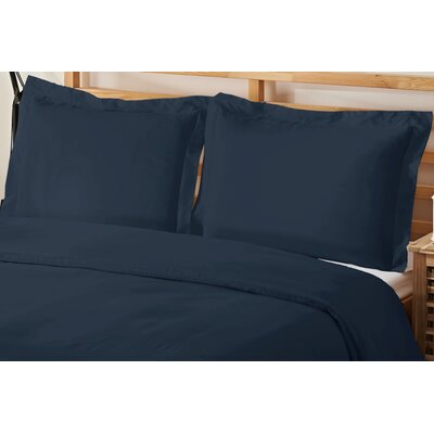 3 Piece Queen Duvet Cover Set Color: Navy