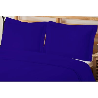 2 Piece Twin Duvet Cover Set Color: Royal Blue