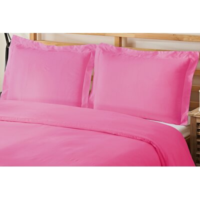 3 Piece Queen Duvet Cover Set Color: Light Pink