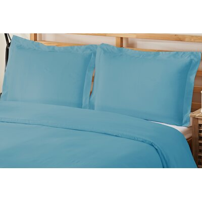 2 Piece Twin Duvet Cover Set Color: Aqua
