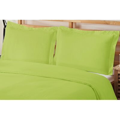 2 Piece Twin Duvet Cover Set Color: Lime