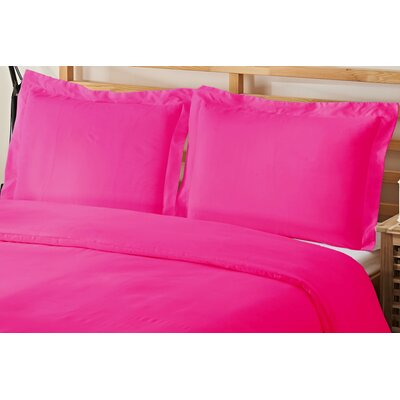 3 Piece Queen Duvet Cover Set Color: Pink