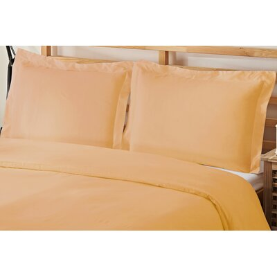 3 Piece Queen Duvet Cover Set Color: Gold