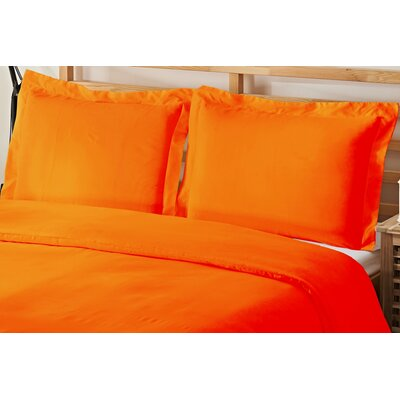 2 Piece Twin Duvet Cover Set Color: Elite Orange