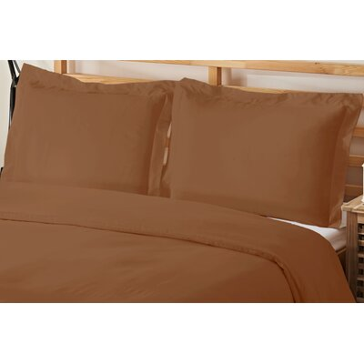 2 Piece Twin Duvet Cover Set Color: Bronze