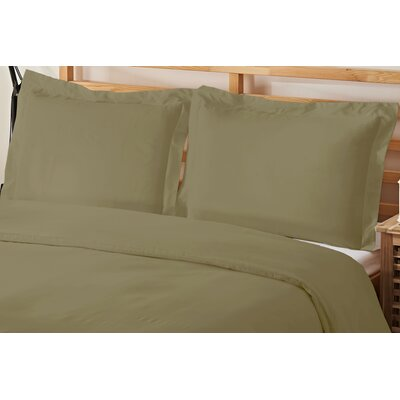 3 Piece Queen Duvet Cover Set Color: Sage