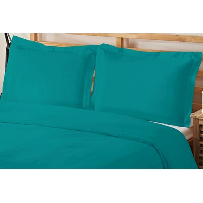 2 Piece Twin Duvet Cover Set Color: Turqouise