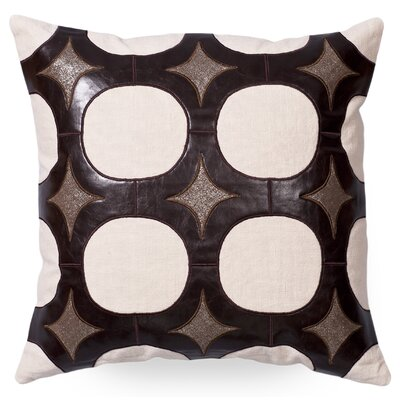 Gordon Faux leather/Linen Throw Pillow