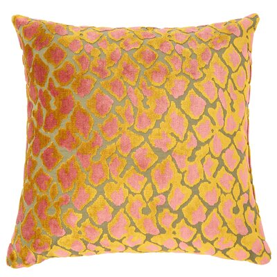 Kendrick Velvet Throw Pillow Color: Citrus/Pink