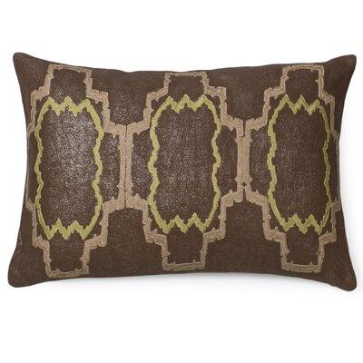 Lilly Linen Lumbar Pillow Color: Otter/Moss
