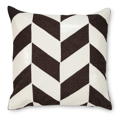Max Faux leather/Linen Throw Pillow