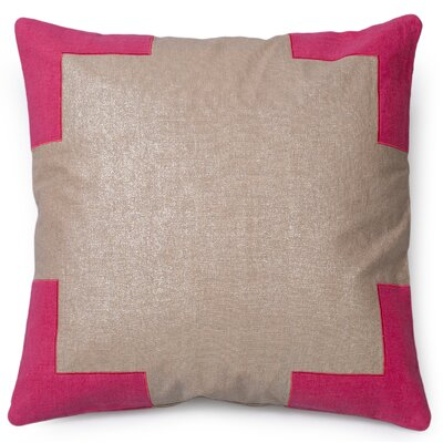Tracy Linen Throw Pillow Color: Paradise Pink