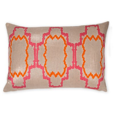 Lilly Linen Lumbar Pillow Color: Paradise Pink/Orange Peel