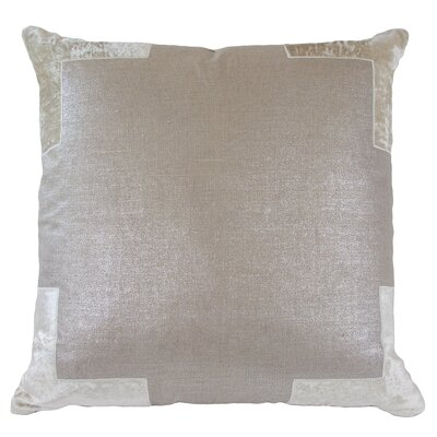 Tracy Linen Throw Pillow Color: Champagne