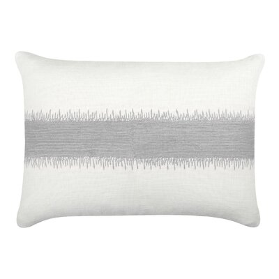 Caroline Cotton Lumbar Pillow Color: Silver