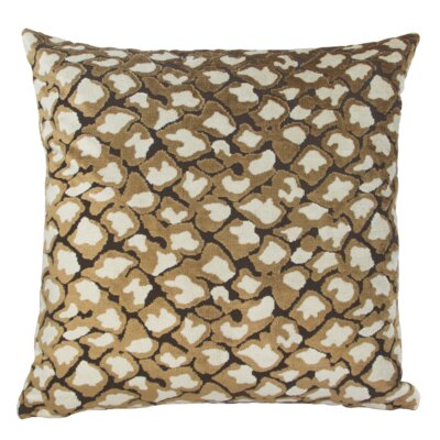 Kendrick Velvet Throw Pillow Color: Brown/Cream