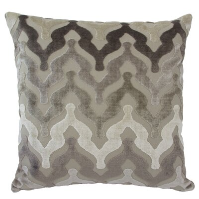 Bella Velvet Throw Pillow Color: Taupe
