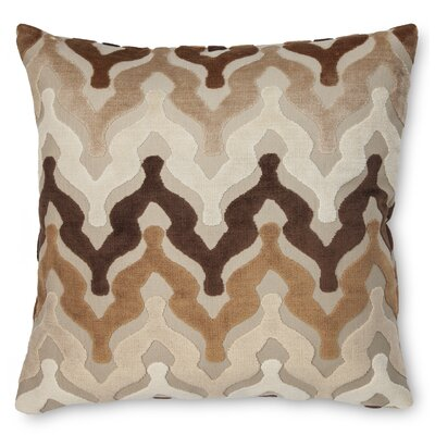 Bella Velvet Throw Pillow Color: Brown