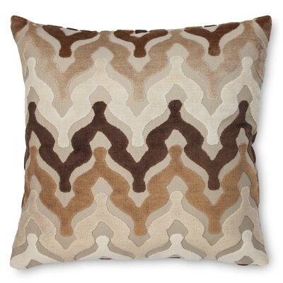 Bella Velvet Throw Pillow Color: Brown