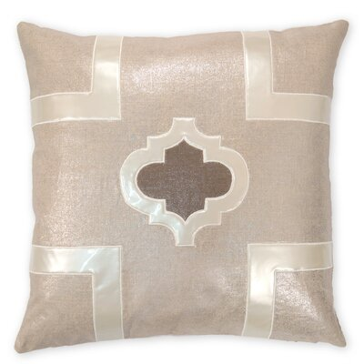 Griffin Faux leather/Linen Throw Pillow