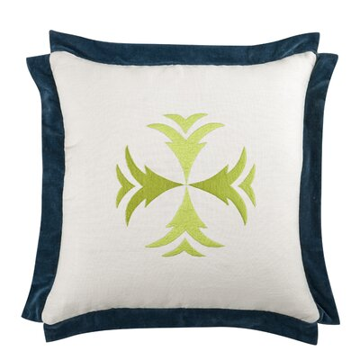 Hattie Throw Pillow Color: Citrus/Navy