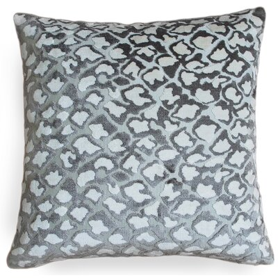 Kendrick Velvet Throw Pillow Color: Gray/White