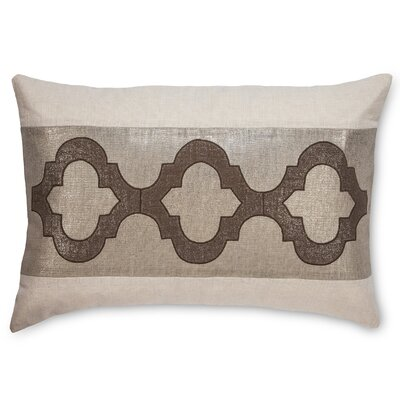 Ceecee Linen Lumbar Pillow Color: Beige/Brown