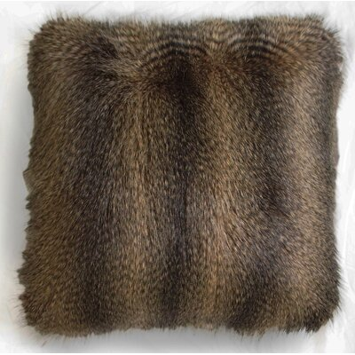 Matty Faux Fur Throw Pillow