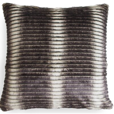 Smokey Faux Fur Throw Pillow