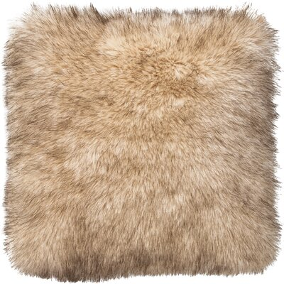 Teddy Faux Fur Throw Pillow