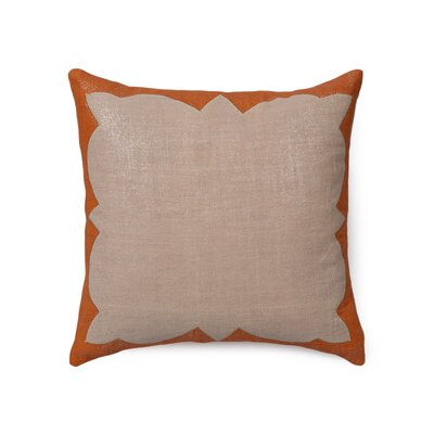 Ashley Linen Throw Pillow Color: Lava