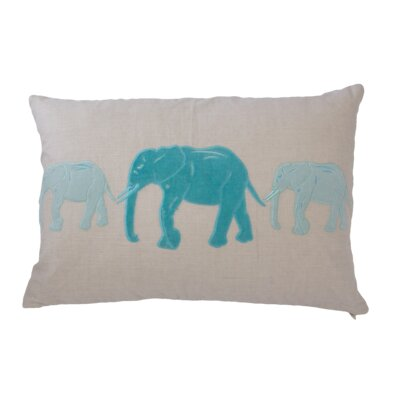 Big Al Linen Lumbar Pillow Color: Turquoise