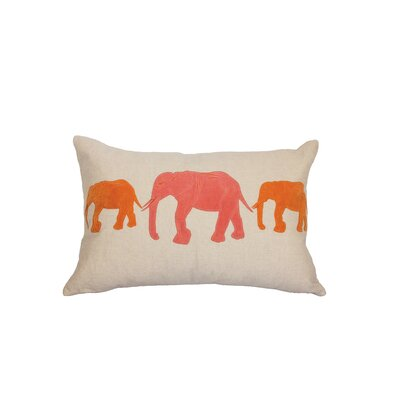 Big Al Linen Lumbar Pillow Color: Coral/Orange