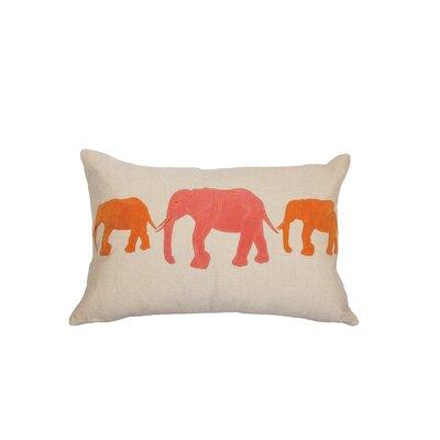 Big Al Linen Lumbar Pillow Color: Coral/Orange