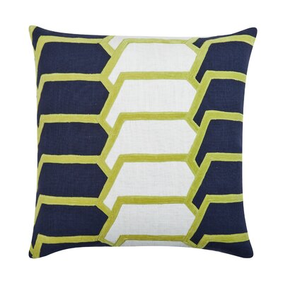 Charley Throw Pillow Color: Navy/Citrus