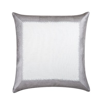 Ella 100% Cotton Throw Pillow Color: Silver