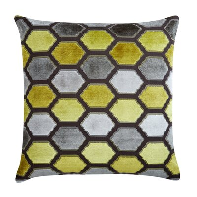 Evie Velvet Throw Pillow Color: Citrus