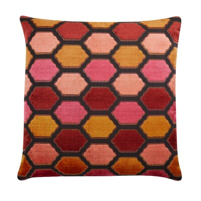 Evie Velvet Throw Pillow Color: Sunset
